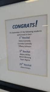 Recitals - Congratulations
