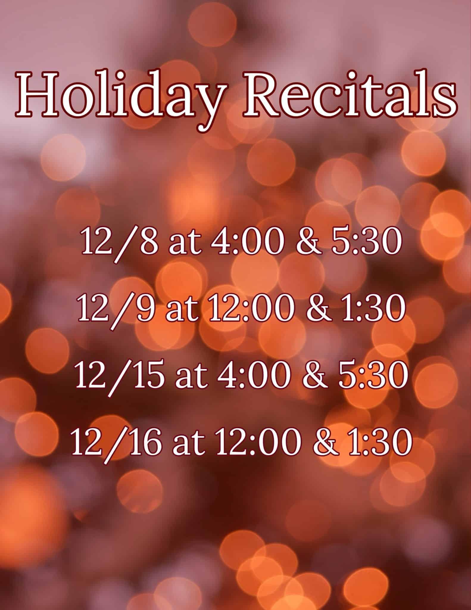 holiday recitals