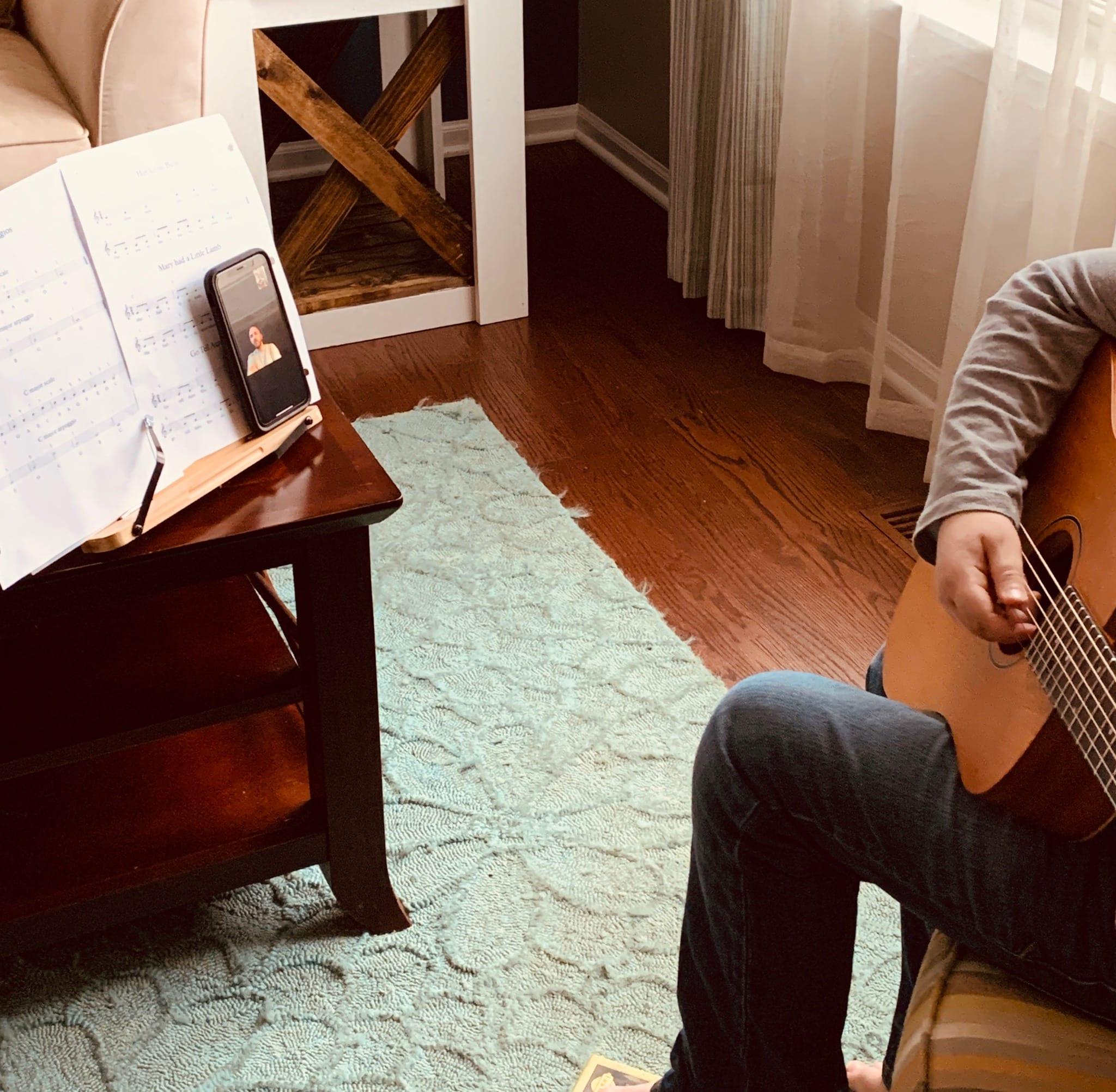 Guitar Student Online Lesson